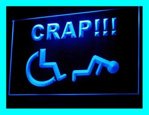 220084B-font-b-Handicapped-b-font-Crap-beware-Wheelchair-Careful-Funny-Exhibit-LED-light-font-b