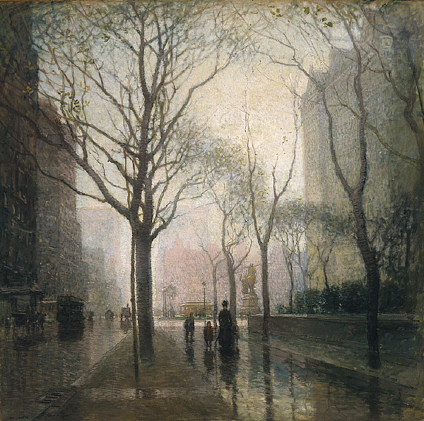 Paul_Cornoyer_-_The_Plaza_After_Rain
