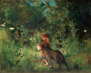 Little Red Riding Hood, by Carl Larsson PD|100yrs via Wikimedia Commons