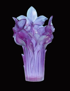 Amaryllis Ultraviolet Vase, by Daum Studio (Valued at $5,500.00--NOT in my collection)