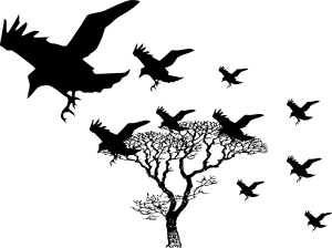 crows-clip art clicker vector dot com