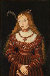 Portrait of Princess Sibylle of Cleve, Lucas Cranach the Elder (1472–1553) via Wikimedia Commons
