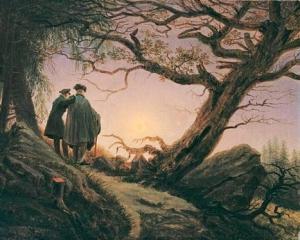 Two men contemplating the moon, Caspar David Friedrich