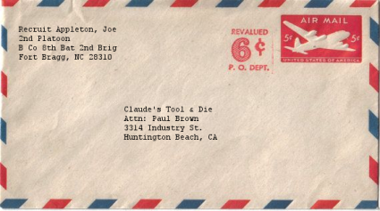 Airmail Envelope Addressed
