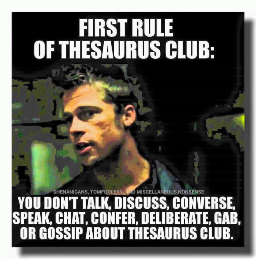 Thesaurus Flub Meme